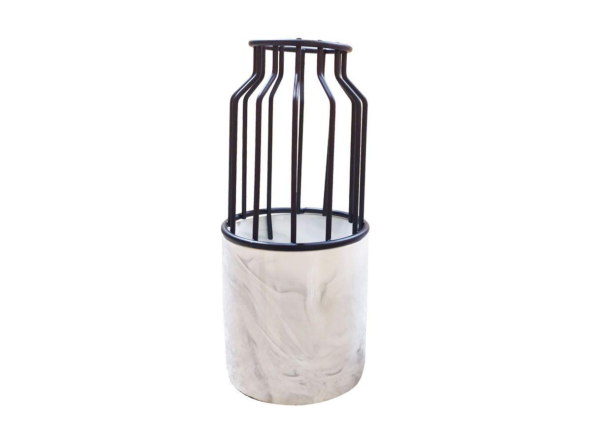 Vaso decorativo em Cerâmica - 22 x 10 cm