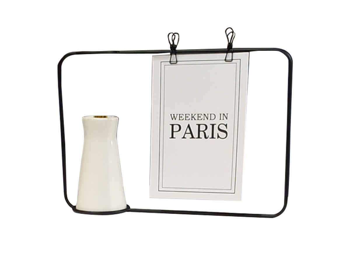 Vaso em cerâmica com porta recado / fotografia - 10 x 5,2 cm