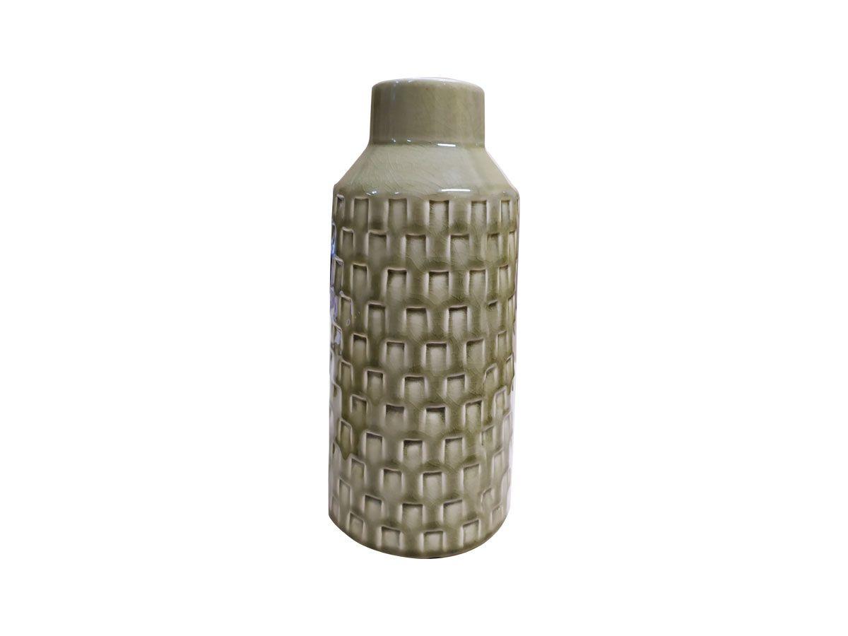 Vaso em Cerâmica Trama Fendi - 26 x 6,5 x 12 cm