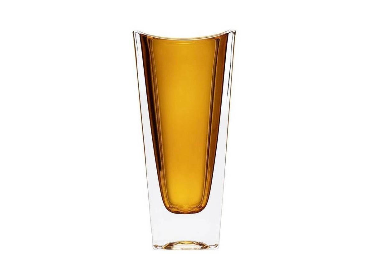 Vaso em cristal ecológico Okinawa Ambar -  14 x 08 x 30 cm