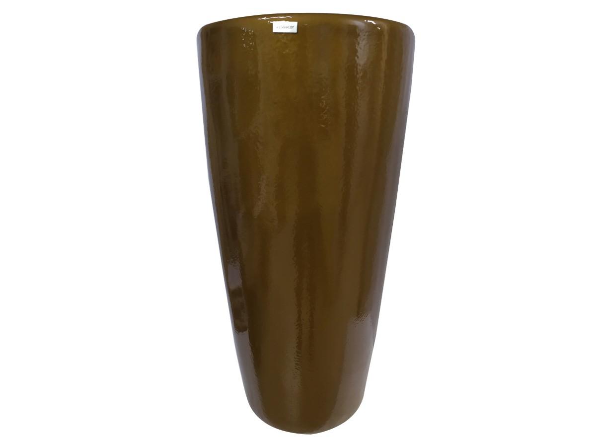 Vaso em fibra de vidro Pilão Grande - Ouro Envelhecido