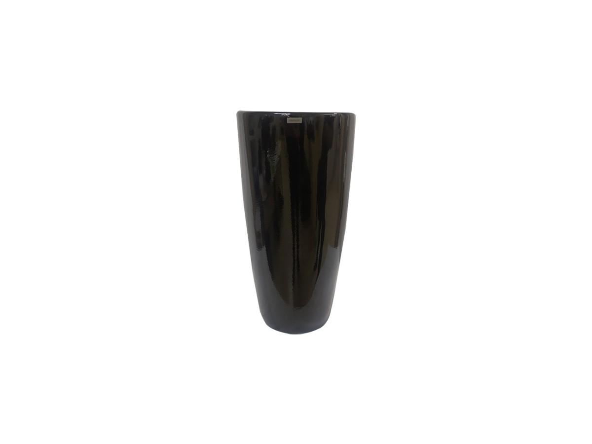 Vaso em fibra de vidro Pilão Pequeno - Preto