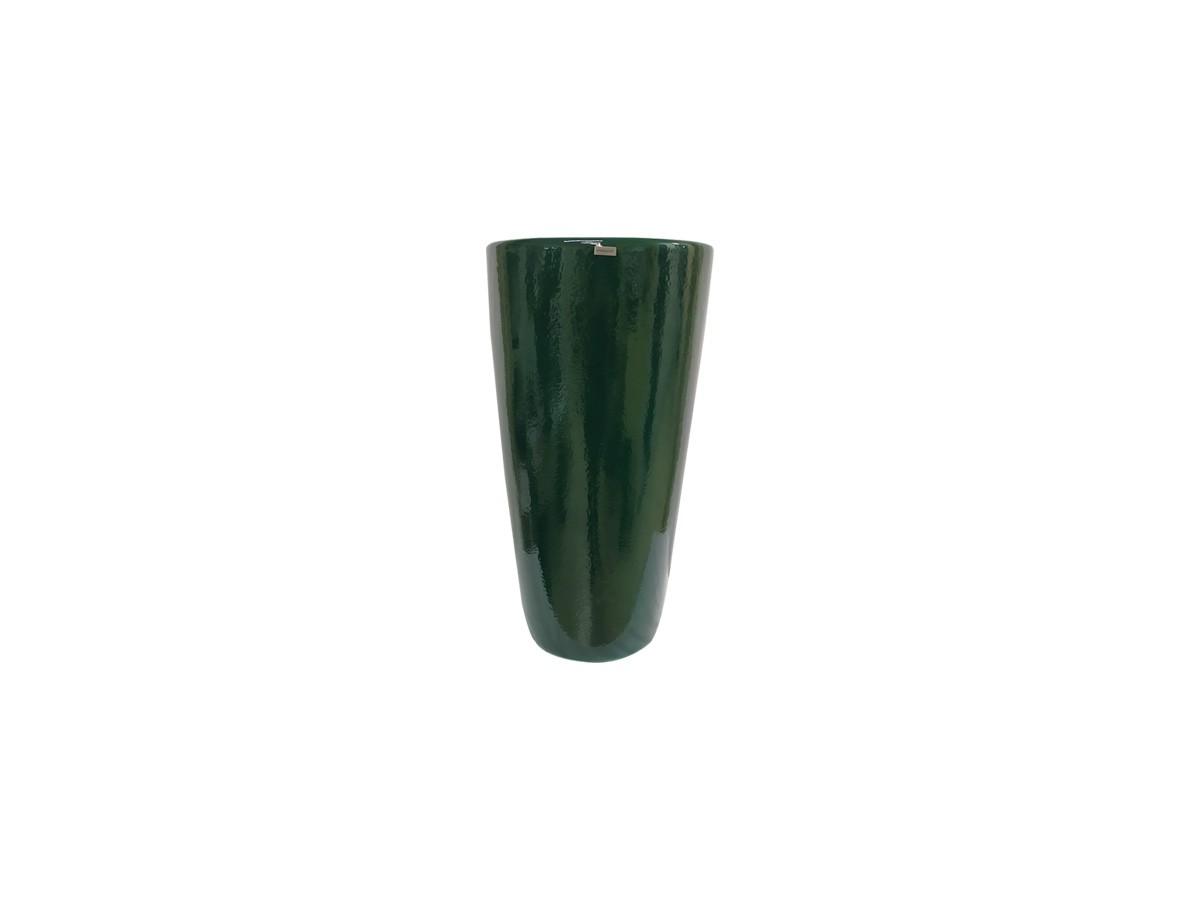 Vaso em fibra de vidro Pilão Pequeno - Verde Esmeralda