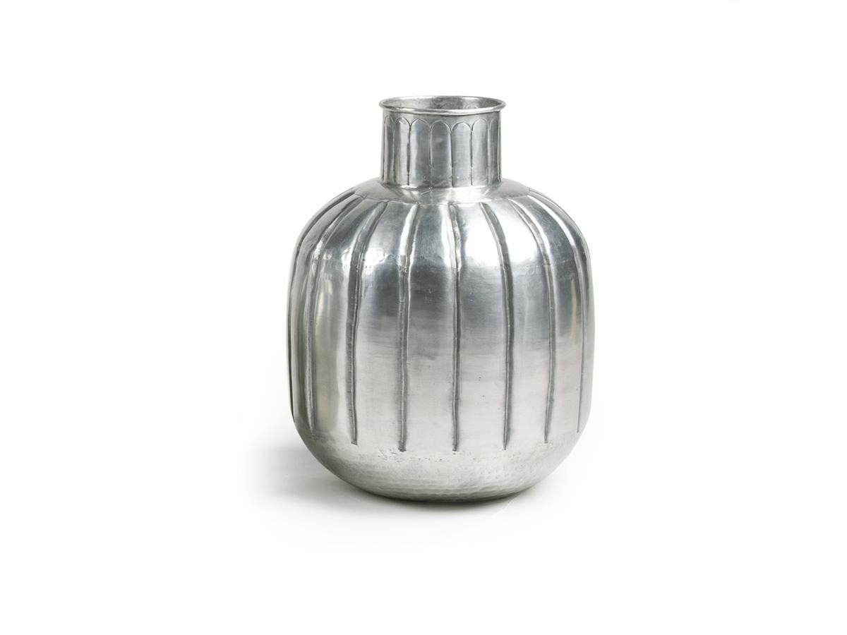 Vaso Garrafa Indiano P Objeto de Decoração Alumínio Artesanal