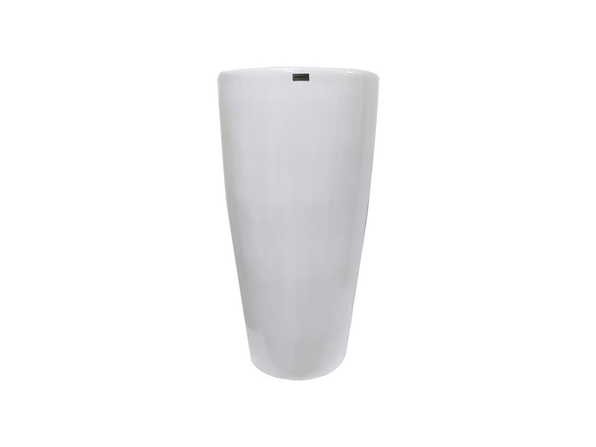 Vaso Pilão em fibra de vidro Grande Branco - 47 x 88 x 30 cm