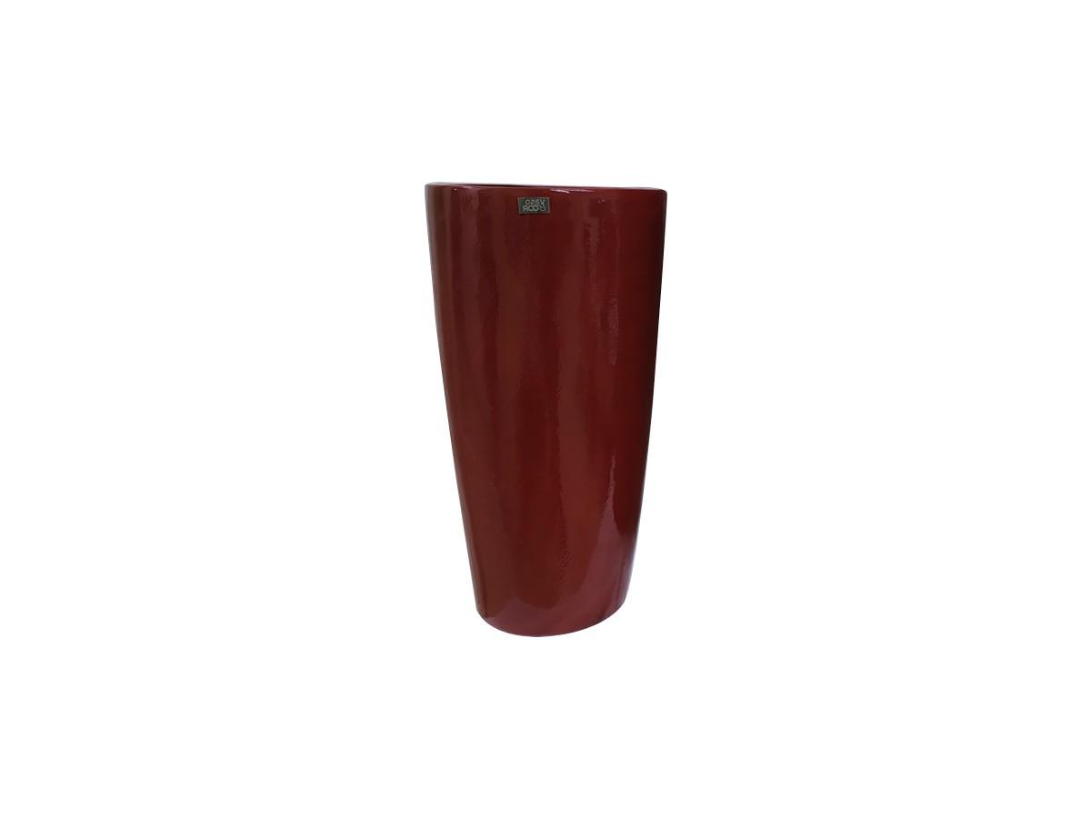 Vaso Pilão em fibra de vidro Médio Vermelho - 38 x 72 x 26 cm