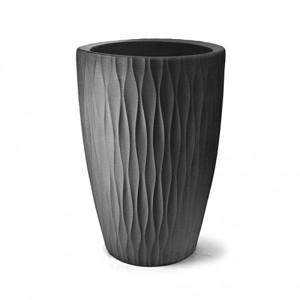 Vaso Rotomoldado Infinity Cônico Preto 57 cm