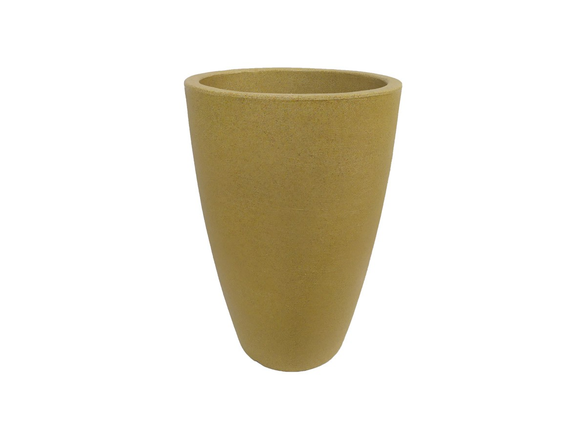 Vaso Rotomoldado Malta Cone Granito Areia 38 x 55 cm