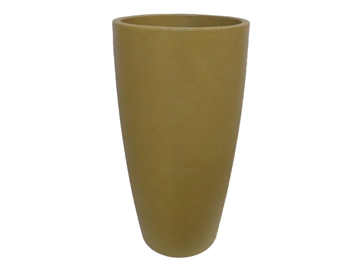 Vaso Rotomoldado Malta Cone Granito Areia 43 x 76 cm
