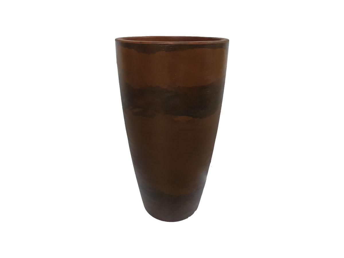 Vaso Rotomoldado Malta Cone Rusty 43 x 76 cm