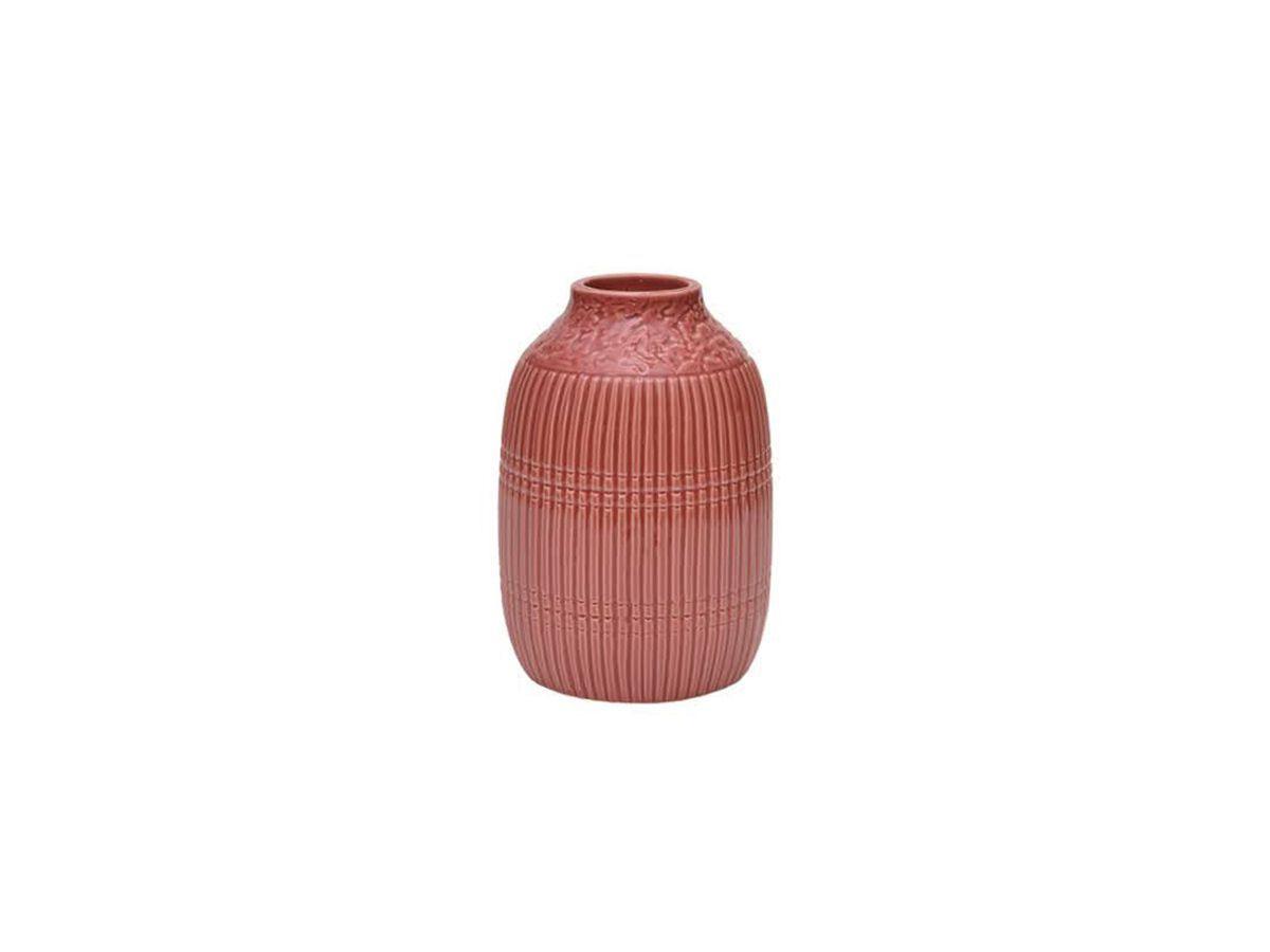 Vaso Trabalhado Alto De Porcelana 17 X 10,5 Cm