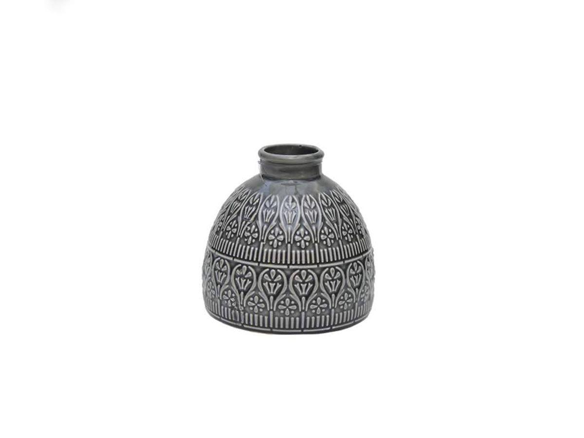 Vaso Trabalhado De Porcelana 11,6 X 11Cm