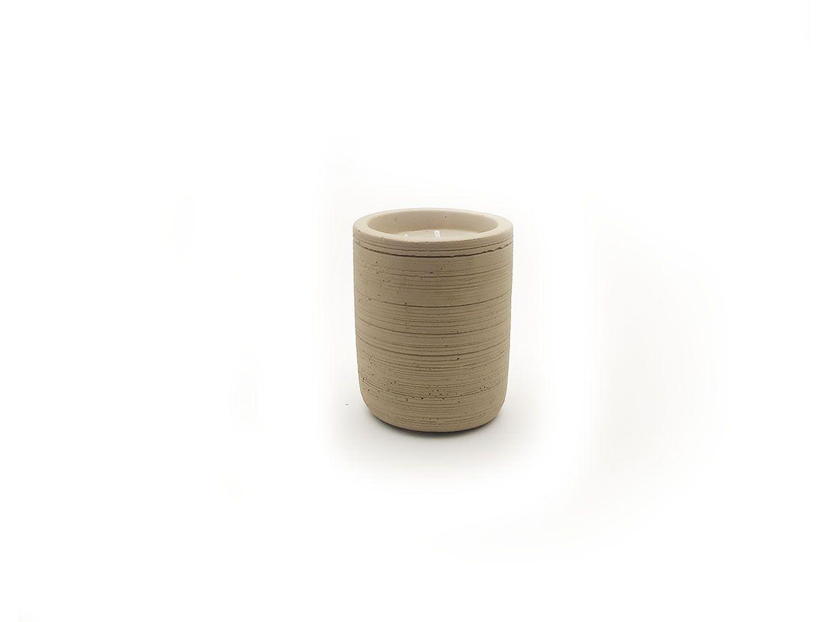 Vela em Pote de Cimento Cinza 8x6,5cm