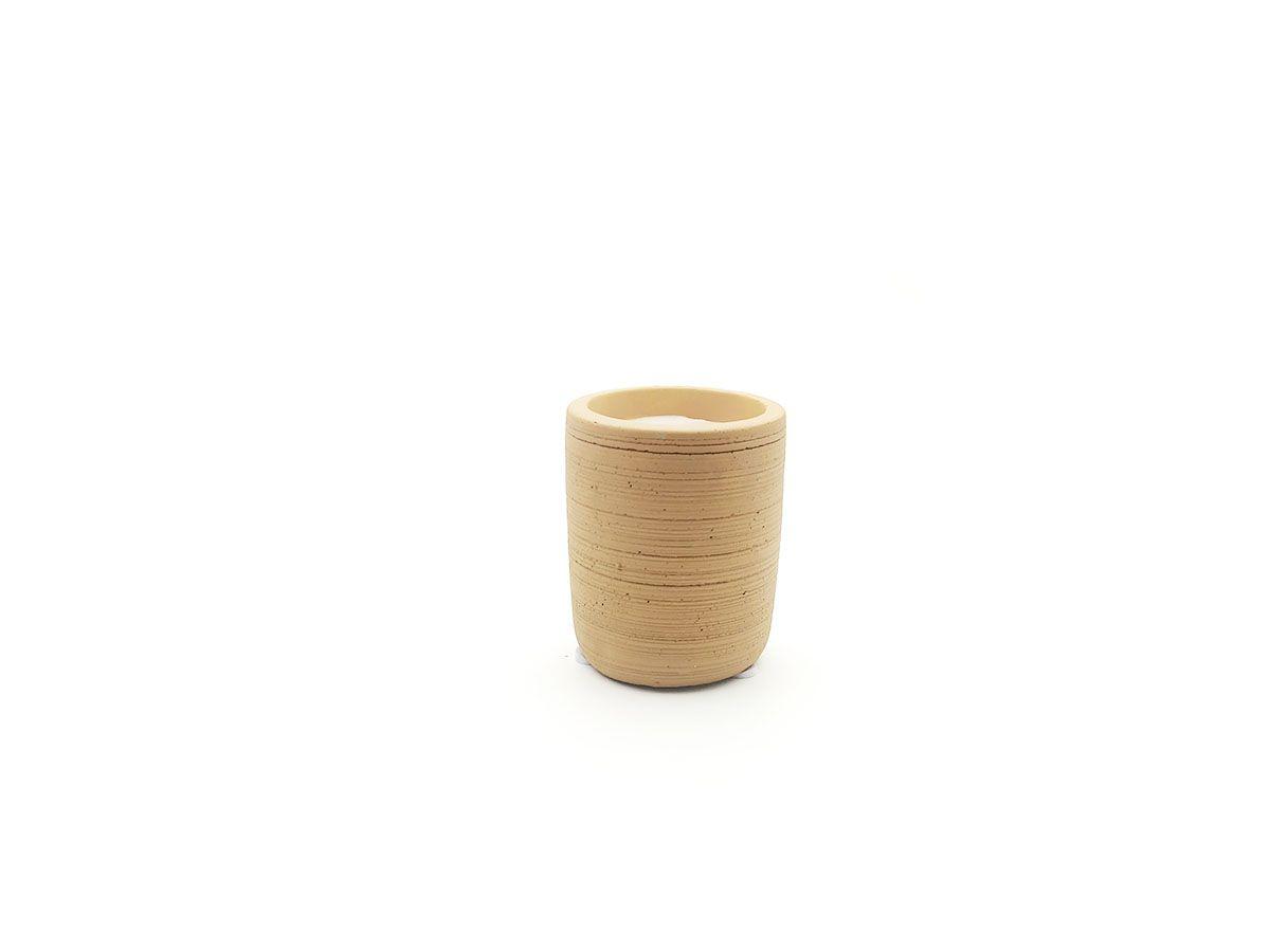 Vela em Pote de Cimento Terracota 8x6,5cm