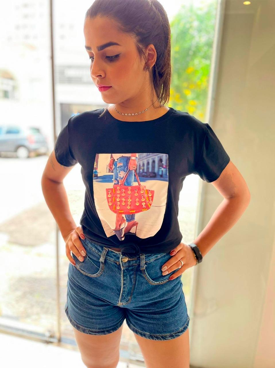 T-shirt com aplique Eliza