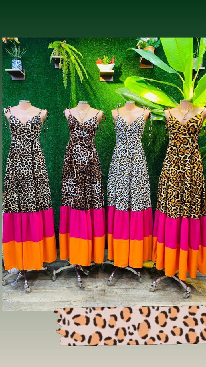 Vestido longo Amazona