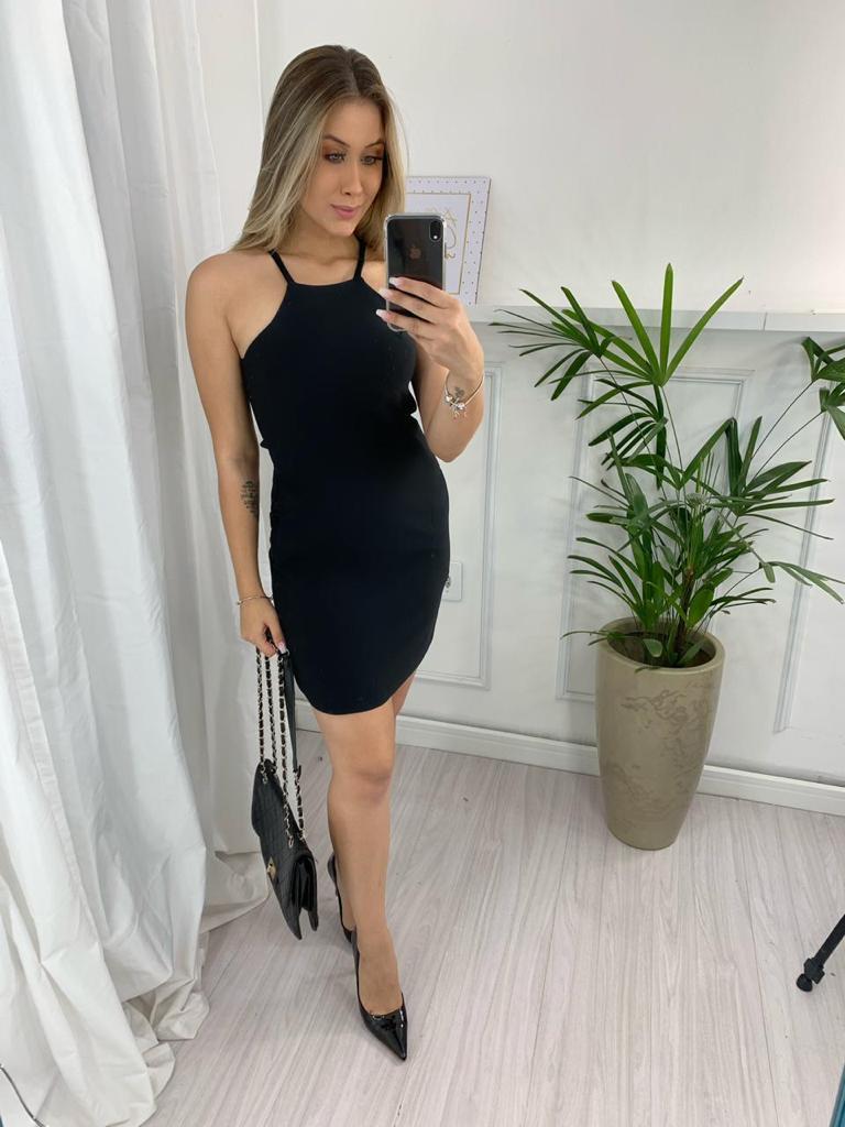 Vestido montaria com bolso