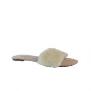 Rasteira Fluffy Off White