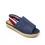Sandália Flatform Milli em corda jeans