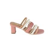 Sandália Rosê com Tiras Coloridas