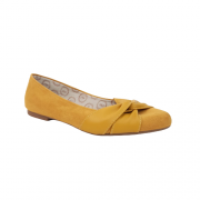 Sapatilha Nobuck Amarelo Bico Redondo