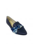 Sapatilha Milli Azul em Nó Detalhe Tie Day