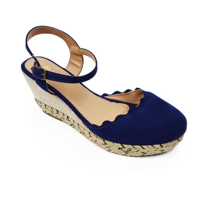 Anabela Azul Marinho com detalhe em corda Milli