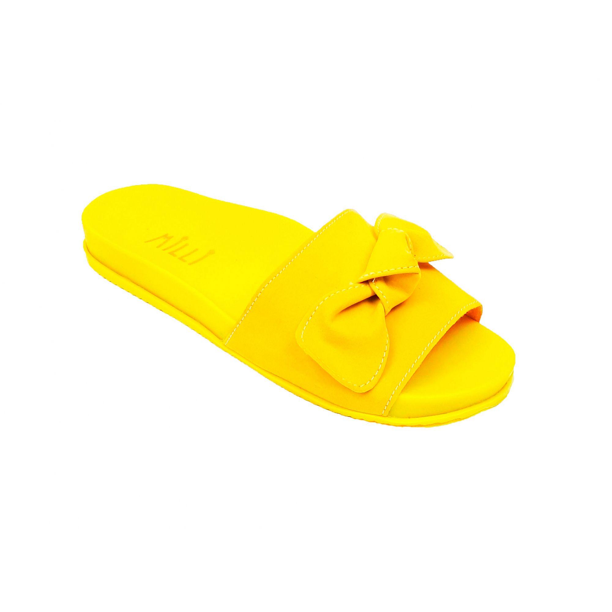Birken Suede Laço Amarela