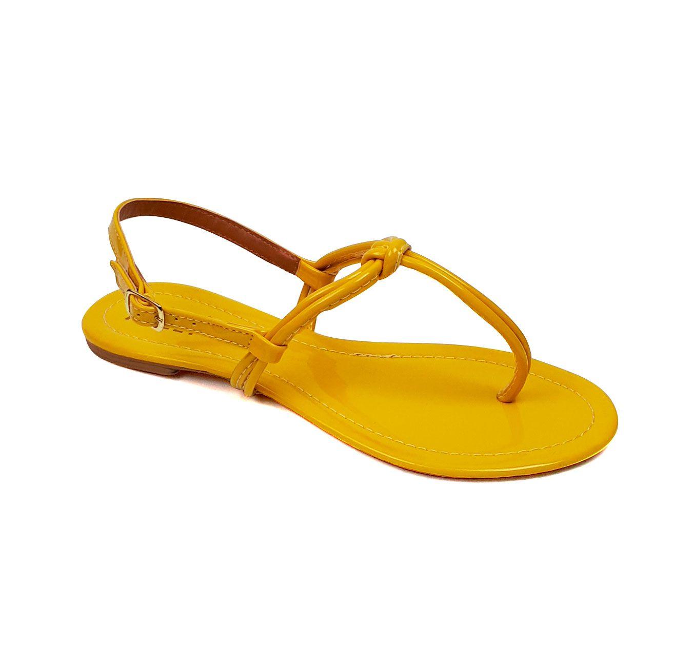 Rasteirinha Milli Nó amarela