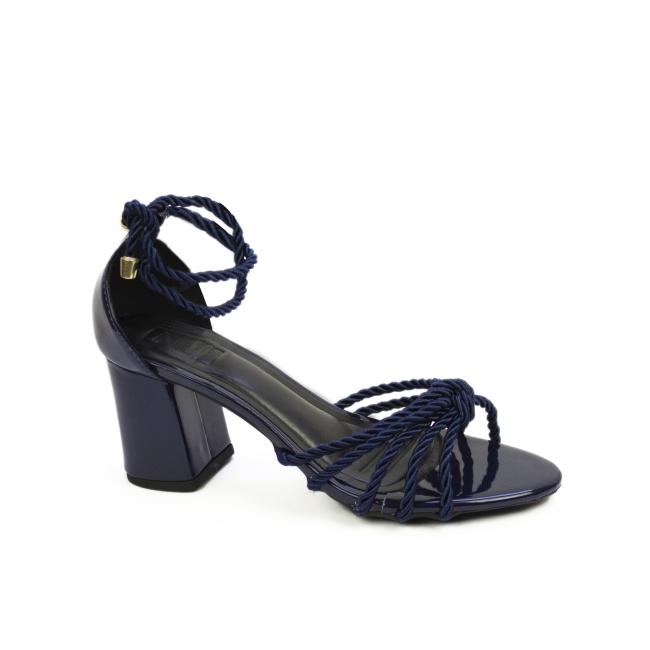Sandália Azul Marinho Salto grosso Milli