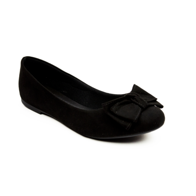 Sapatilha Milli Nobuck black bico arredondado