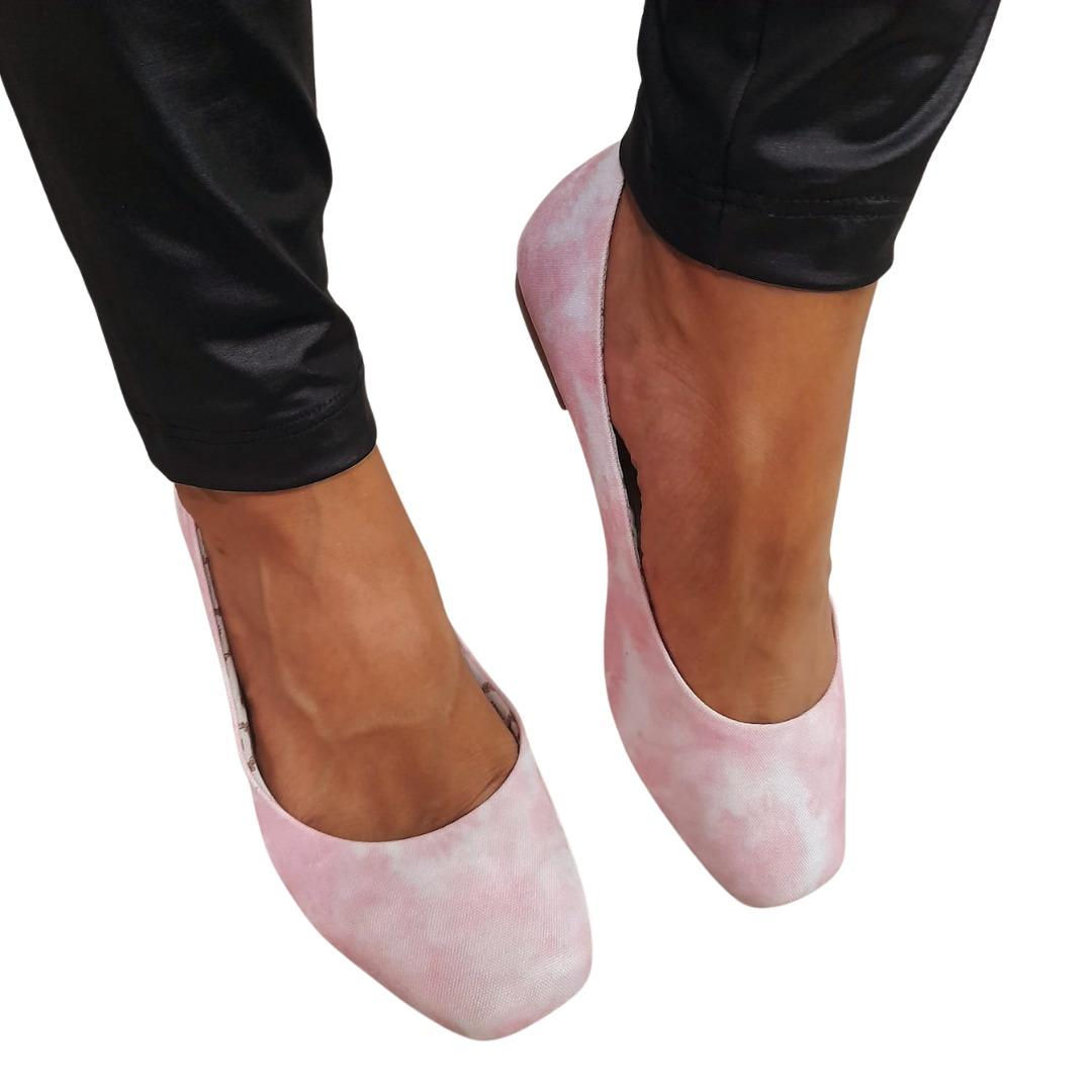 Sapatilha Milli Tie Dye Rosa e Branco
