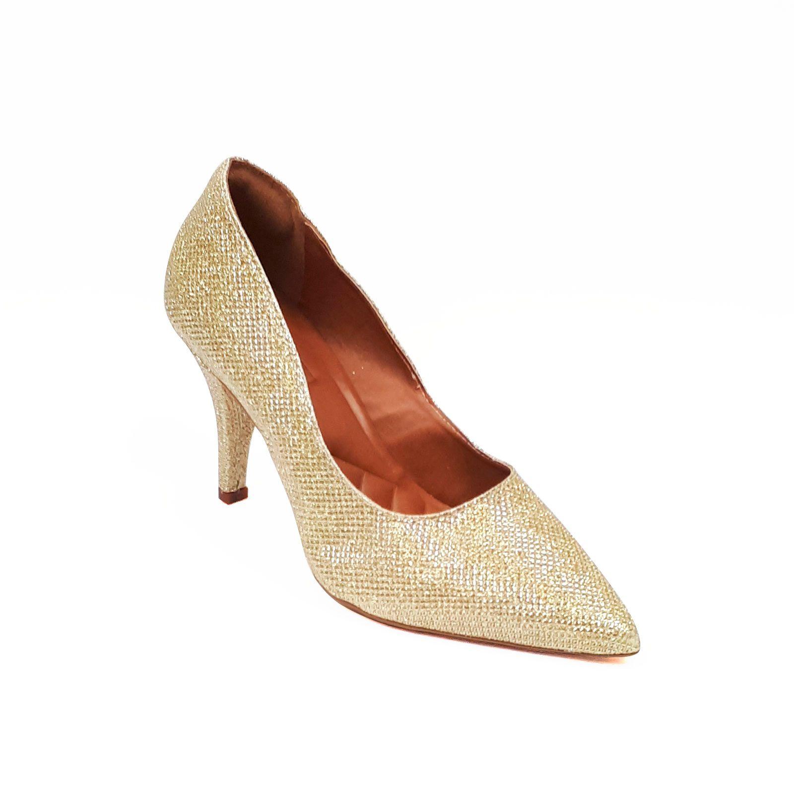 Scarpin glitter ouro light