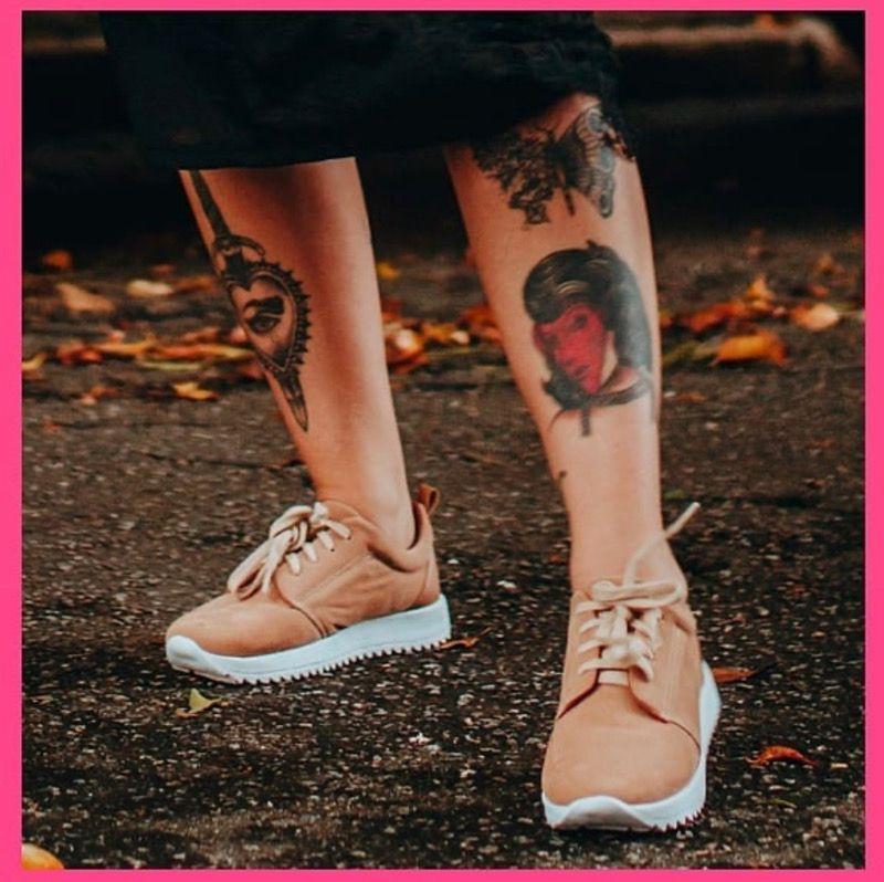 Tênis Milli Marrom Claro, Camurça com cadarço