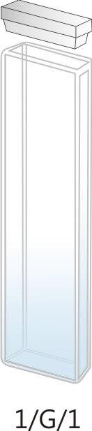 1/G/1 - Cubeta para Espectrofotômetro de Vidro 1mm (1x10x45 mm interno)