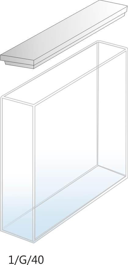 1/G/40 - Cubeta para Espectrofotômetro de Vidro 40mm (40x10x45 mm interno)