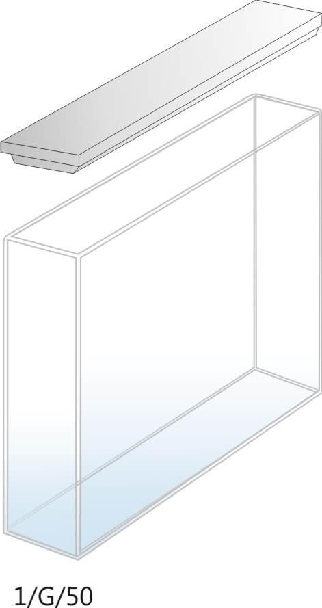 1/G/50 - Cubeta para Espectrofotômetro de Vidro 50mm (50x10x45 mm interno)