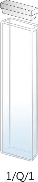 1/Q/1 - Cubeta para Espectrofotômetro de Quartzo - 1 mm (1 x 10 x 45mm interno)