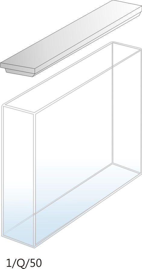 1/Q/50 - Cubeta para Espectrofotômetro de Quartzo - 50 mm (50 x 10 x 45mm interno)