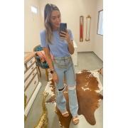 Calça Jeans Reta Rasgos - 100% Algodão