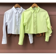 Camisa Cropped Tricoline