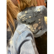 Jaqueta Grafitada Jeans