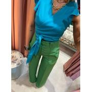 Pantalona Alfaiataria Verde Esmeralda