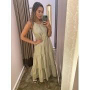 Vestido Tricoline Alcinha 3 Babados