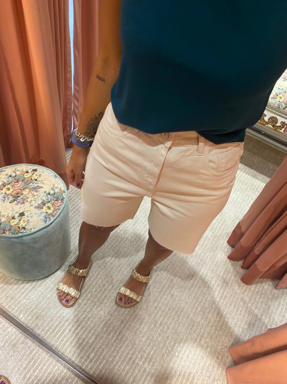 Bermuda Jeans Sarja Off - Esmeral