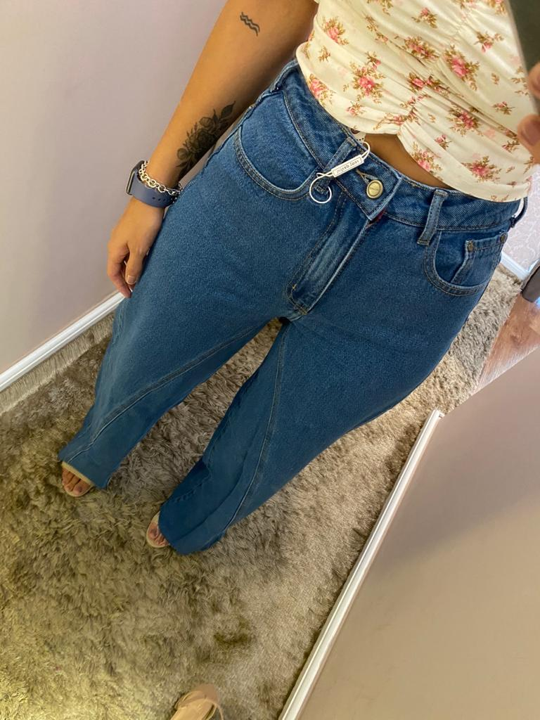 Calça Pantalona Jeans - 100% Algodão