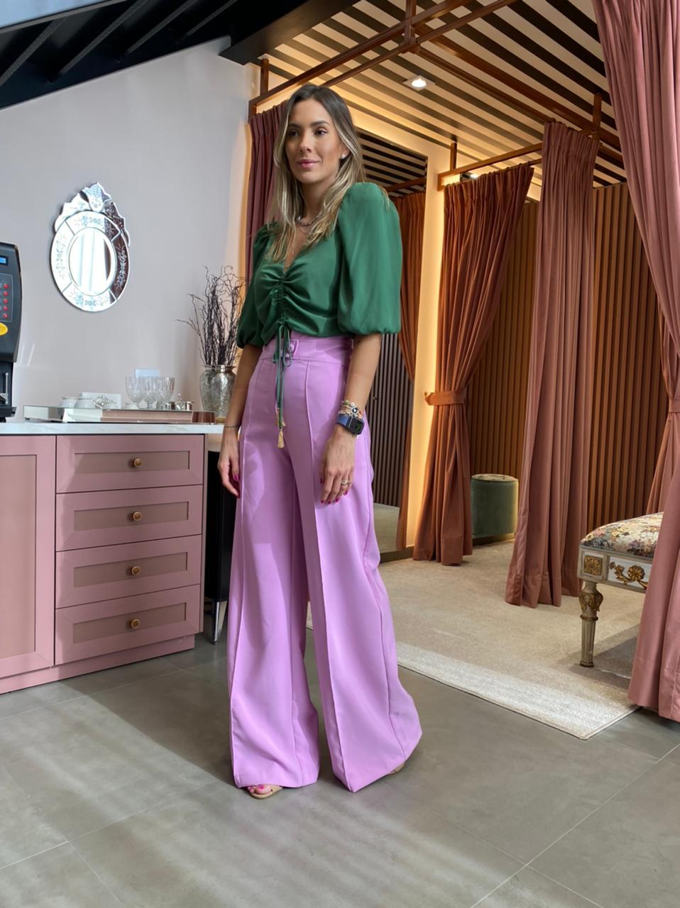 Calça Pantalona Orquidea