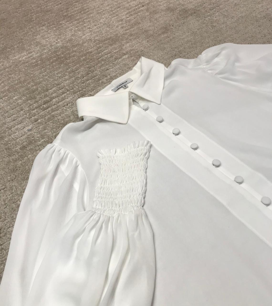 Camisa Chiffon Punho Lastex