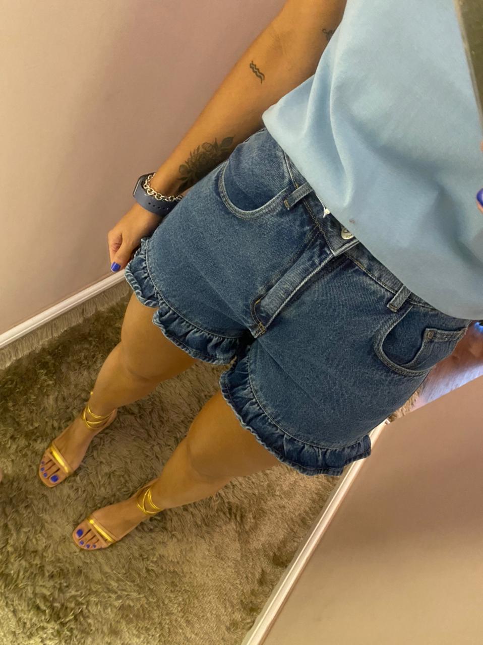 Short Jeans Babados