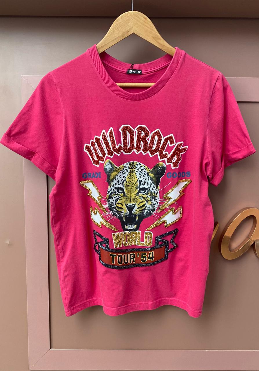 Tee Wild Rock Bordada